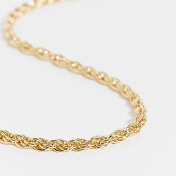 DesignB London Curve Exclusive chunky twisted necklace in gold | ASOS (Global)