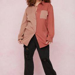 Worth the Stripe Plus Oversized Contrasting Shirt   NastyGal (US & CA)