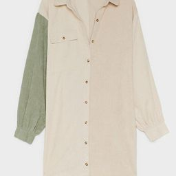 It Takes Two-Tone Plus Corduroy Shirt Dress | NastyGal (US & CA)