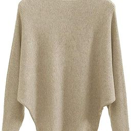 Women's Batwing Sleeves Knitted Dolman Sweaters Pullovers Tops | Amazon (US)