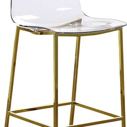Meridian Furniture Lumen Collection Modern Contemporary Acrylic Counter Stool with Stainless Stee... | Amazon (US)