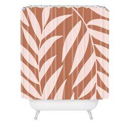 Emanuela Carratoni Palms on Baked Earth Shower Curtain Pink - Deny Designs   Target