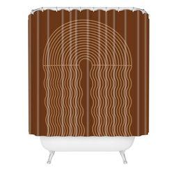Iveta Abolina Deandre Shower Curtain Clay - Deny Designs   Target