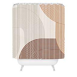 Iveta Abolina Mid Century Line Art Shower Curtain Brown - Deny Designs   Target