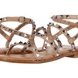 Steve Madden Travel Flat Sandal (Tan) Women's Shoes | Zappos