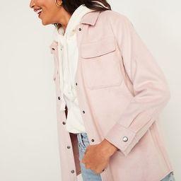 Soft-Brushed Utility Shirt Jacket for Women | Old Navy (US)