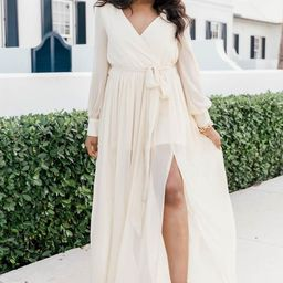 My Dearest Darling Beige Maxi Dress | The Pink Lily Boutique