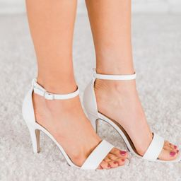 Denise White Heels | The Pink Lily Boutique