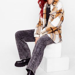 All Checked Out Oversized Shirt Jacket | NastyGal (US & CA)