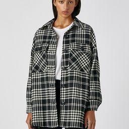 Pull&Bear mono plaid overshirt shacket | ASOS (Global)