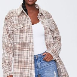 Faux Pearl Tweed Shacket | Forever 21 (US)