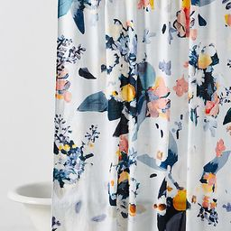 Botanica Shower Curtain By Anthropologie in Blue Size 72 X 72 | Anthropologie (US)