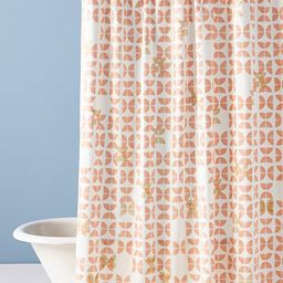 Halley Shower Curtain By Anthropologie in Orange Size 72 X 72 | Anthropologie (US)