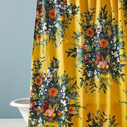 Marcene Bouquet Shower Curtain By Anthropologie in Assorted Size 72 X 72 | Anthropologie (US)