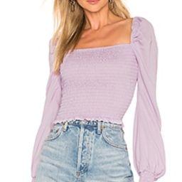 superdown Tanya Smocked Top in Lavender from Revolve.com | Revolve Clothing (Global)