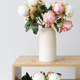 """L'impatience Hand Crafted Bouquet Vase - 7.75"""" Tall 