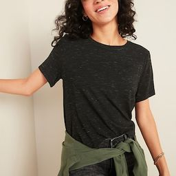 Luxe Space-Dye Crew-Neck Tee for Women | Old Navy (US)