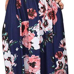 MISFAY Women Short Sleeve Loose Plain Maxi Dresses Casual Long Dresses Pockets | Amazon (US)