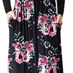 VIISHOW Women's Long Sleeve Loose Plain Empire Waist Maxi Dresses Casual Long Dresses with Pocket... | Amazon (US)