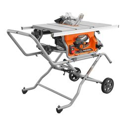 RIDGID 10 in. Pro Jobsite Table Saw with Stand-R4514 - The Home Depot | The Home Depot