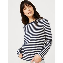Free Assembly Women's Crewneck T-Shirt with Long Sleeves | Walmart (US)