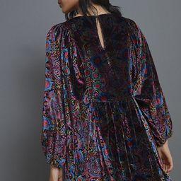 Mona Burnout Velvet Mini Dress | Anthropologie (US)