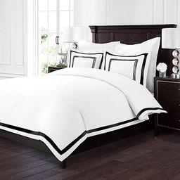 Sleep Restoration Luxury Soft Brushed Embroidered Microfiber Duvet Cover Set with Beautiful Trim ... | Amazon (US)