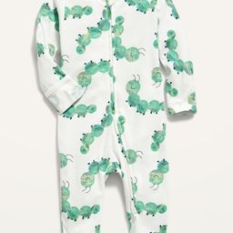 Unisex Printed Fold-Over Mitten Footed One-Piece for Baby | Old Navy (US)