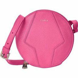 "Furla Perla Pink Pebble Leather Mini Zip Round Cross body Bag Purse Hobo 6""  Nwt | eBay US"