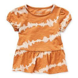 Okie Dokie Little Girls Round Neck Short Sleeve T-Shirt | JCPenney