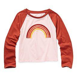 Arizona Little & Big Girls Round Neck Long Sleeve Graphic T-Shirt | JCPenney