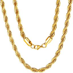 ChainsPro 3/6 mm Spiga Wheat/Twist Rope Chain, Replacement Chain, 18-30 inches, 316L Stainless St...   Amazon (CA)