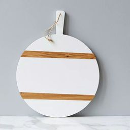 White Round Mod Charcuterie Board | Scout & Nimble
