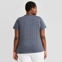 Women's AC/DC High Voltage Short Sleeve Graphic T-Shirt - Blue | Target