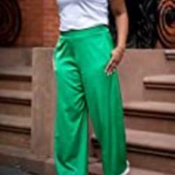 The Drop Women's Emerald Green Satin Wide-Leg Pant by @amazonthedrop, XXS   Amazon (US)