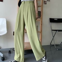 Wide-Leg Dress Pants   YesStyle Global