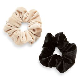 8 Other Reasons 2-Pack Assorted Velvet Scrunchies, Size One Size - Beige | Nordstrom