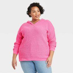 Women's Plus Size Crewneck Pullover Sweater - Ava & Viv™   Target