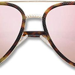SOJOS Aviator Sunglasses for Men and Women Double Bridge Mirrored UV400 Lens SJ2127 | Amazon (US)