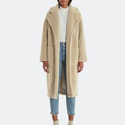 Bronte Faux Shearling Trench Coat | Verishop