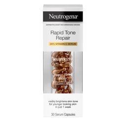 Neutrogena Rapid Tone Repair Vitamin C Brightening Serum Capsules, 30 Count | Walmart (US)