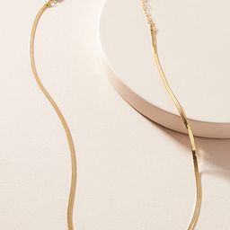 Pandora Snake Chain Necklace By Serefina in Gold   Anthropologie (US)