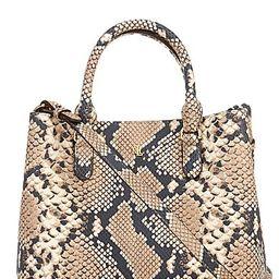 Lauren Ralph Lauren Mini Marcy Leather Snakeskin Satchel Bag - Nude | Dillards