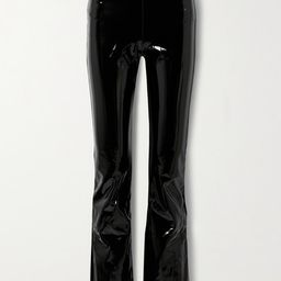 Commando - Stretch Faux Patent-leather Flared Pants - Black   Net-a-Porter (US)