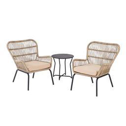 Mainstays Adina Bay Outdoor Patio Furniture 3 Piece Wicker Chat Set | Walmart (US)