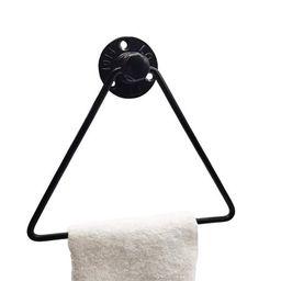 Bestller Black Triangle Bath Towel Holder Iron Towel Ring Modern Hanging Towel Hanger for Hotel Home | Walmart (US)