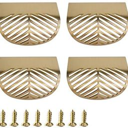 RZDEAL Solid Brass Cabinet Handles Brushed Gold Leaf Knobs and Pulls for Dresser Drawer Handles 2... | Amazon (US)