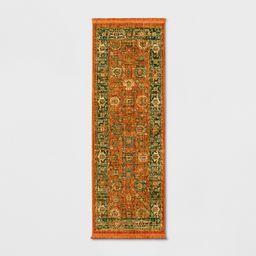 """2'4""""""""X7' Persian with Fringe Border Woven Accent Rug Orange - Threshold 