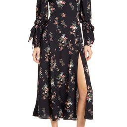 Aubrey Floral Long Sleeve Midi Dress | Nordstrom