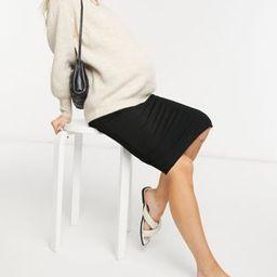 ASOS DESIGN Maternity jersey midi pencil skirt in black   ASOS (Global)